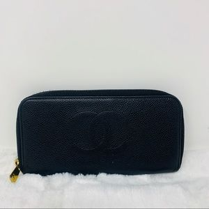 Authentic Chanel Coco Zippy Wallet